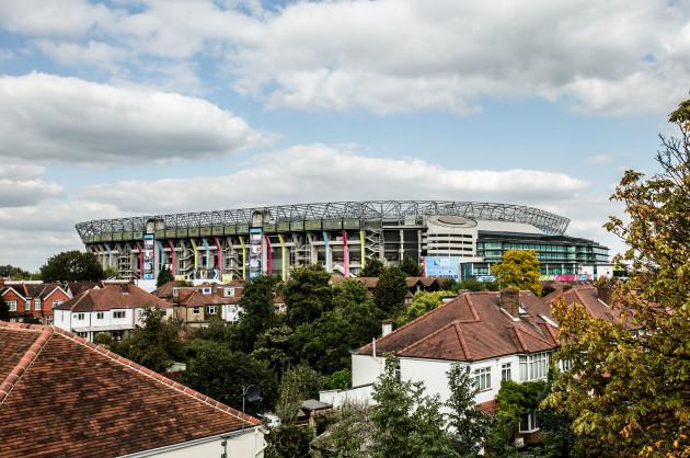 A view of Twickenham Stadium