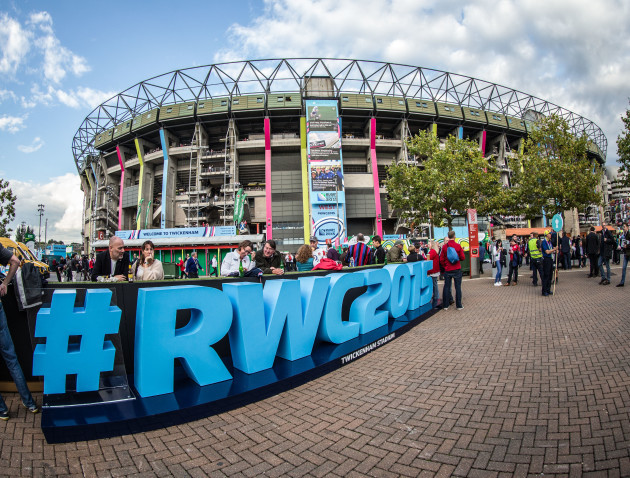 A view of Twickenham before today's game