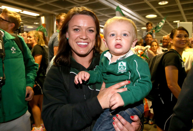 Lyne Cantwell with her nephew Harry