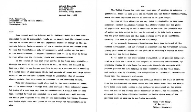 on-august-2-1939-a-month-before-world-war-ii-einstein-wrote-this-two-page-letter-to-president-franklin-d-roosevelt-that-launched-the-us-into-a-nuclear-arms-race-against-the-nazis