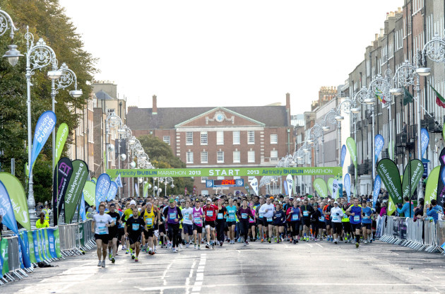 General view of the start of the Dublin Marathon