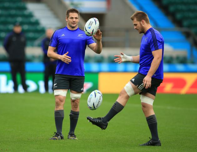 Rugby Union - Rugby World Cup 2015 - New Zealand Captains Run - Twickenham Stadium