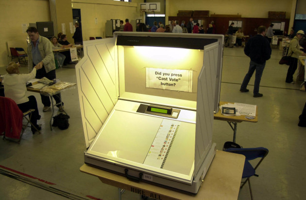 General Election 2002 The electronic ballot boxes