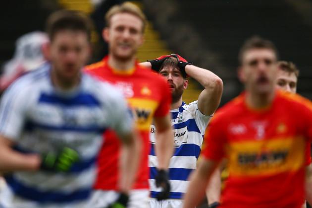 Aidan OÕShea reacts to missed goal chance