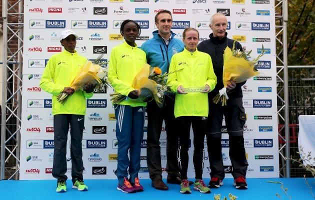 Nataliya Lehonkova, Grace Momanyi and Tesfanesh Denbi are presented