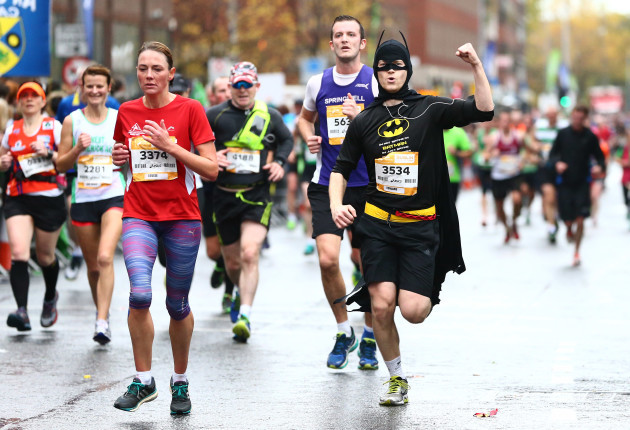 A competitor on his way to finishing the Dublin City Marathon