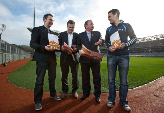 Oisin McConville, Dessie Farrell, Niall McNamee and Liam O'Neill