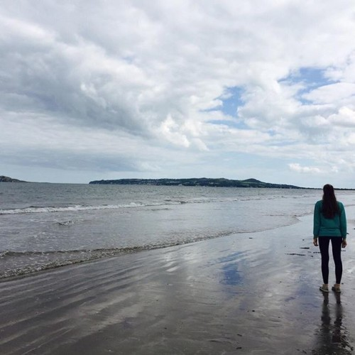#ireland #me #portmarnock #beautiful #sea #loveireland #ice #beach #emotions #freedom