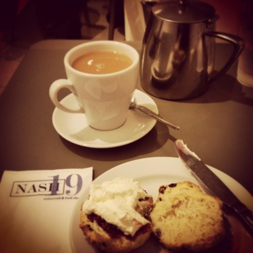 Saturday morning treat! #fondofmyself #nash19 #teaandscone