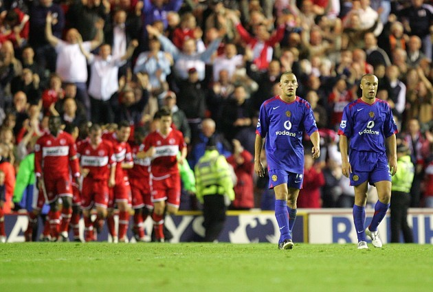 Soccer - FA Barclays Premiership - Middlesbrough v Manchester United - The Riverside Stadium