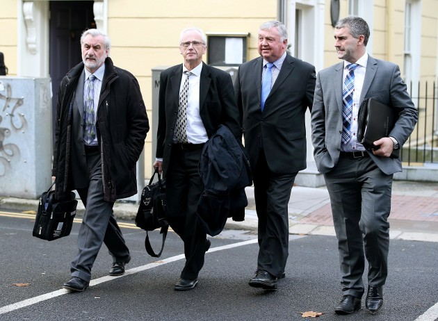 Sport Ireland arriving at Leinster House this morning