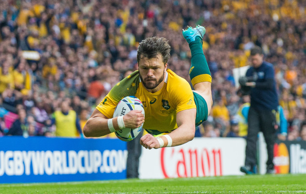 Adam Ashley-Cooper scores his sides first try