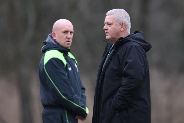 Rugby Union - 2015 RBS Six Nations - Scotland v Wales - Wales Training Session - Vale Hotel