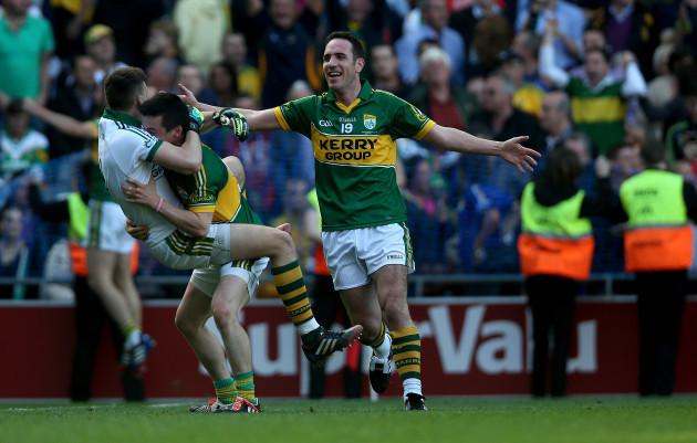 Declan O'Sullivan celebrates at the final whistle