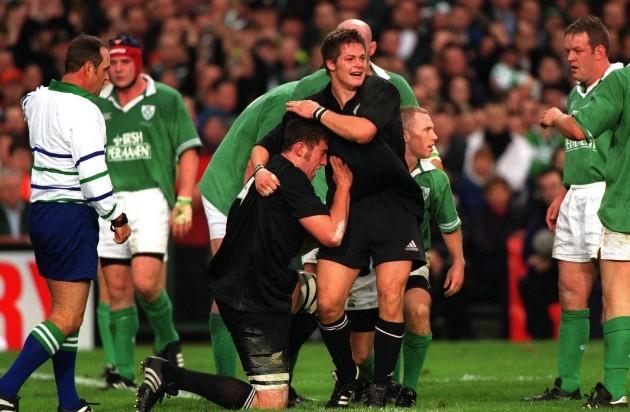 Chris Jack and Richard McCaw 17/11/2001