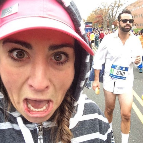 Risky business baby. Here we go! Who's ready to play my all time favorite game #baesofthenycmarathon?!?!?!?! Let's find a boyfriend! #tcsnycmarathon #RunSelfieRepeat #nycmarathon