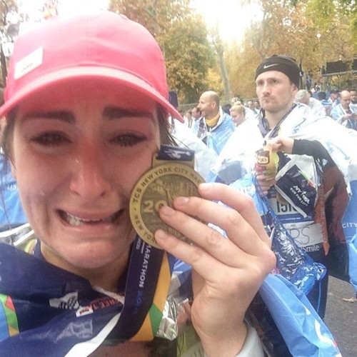 I can't believe it happened. I can't even tell you how I feel right now but it's the best feeling in the world. It's been my goal since my first marathon back in 2013 to break 4 hours and it just happened. My body hurts so much right now but my heart couldn't be happier. I did it. I fucking did it. Screw looking for a boyfriend, I'll take this PB any day. #tcsnycmarathon #RunSelfieRepeat #nycmarathon #BAESoftheNYCmarathon