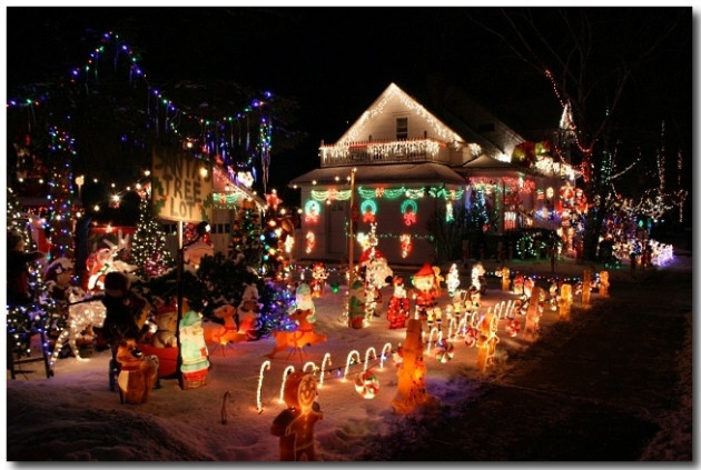 Crazy Christmas Lights House