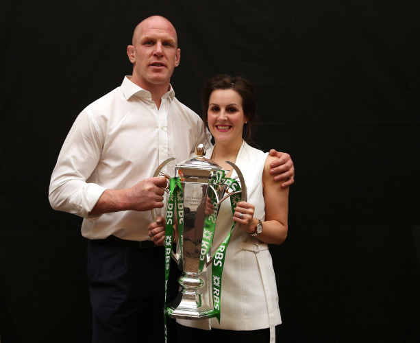 Paul O'Connell with his wife Emily