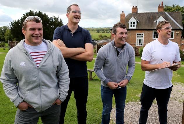 Jack McGrath, Devin Toner, Peter O'Mahony and Jamie Heaslip