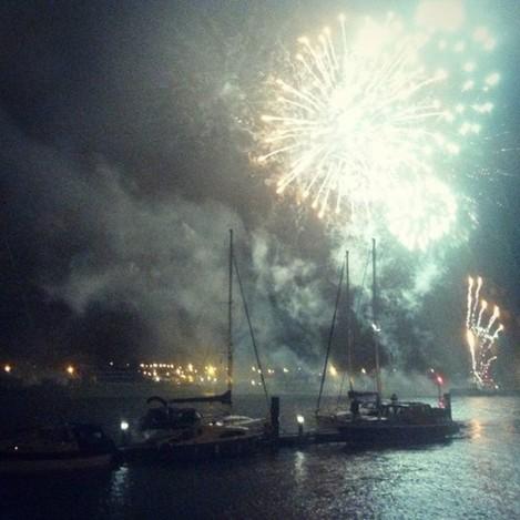#FocsArtificials al riu Suir de #Waterford #Spraoi #spraoifestival #Eire