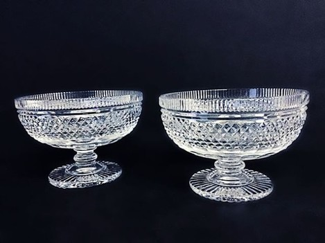 Lot 51: Dazzling #vintage Waterford crystal bowls. Bid now! #waterfordcrystal #waterford #decor #homedecor #kitchendesign #interiordesign #nyc #interiors #crystal #antique #vscocam #vscocamgram