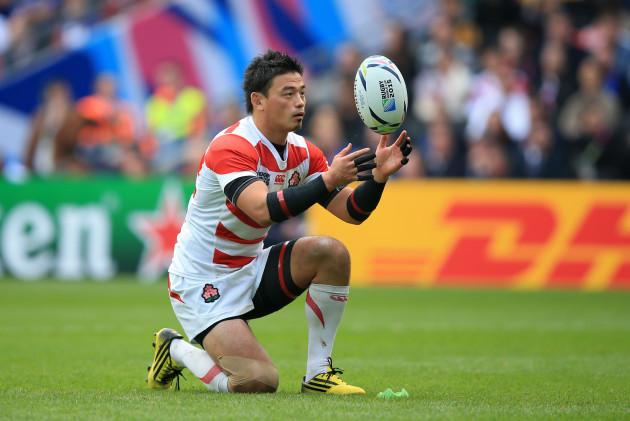 Rugby Union - Rugby World Cup 2015 - Pool B - Samoa v Japan - Stadium:MK