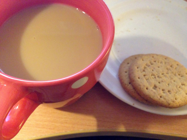 Tea and digestive biscuits