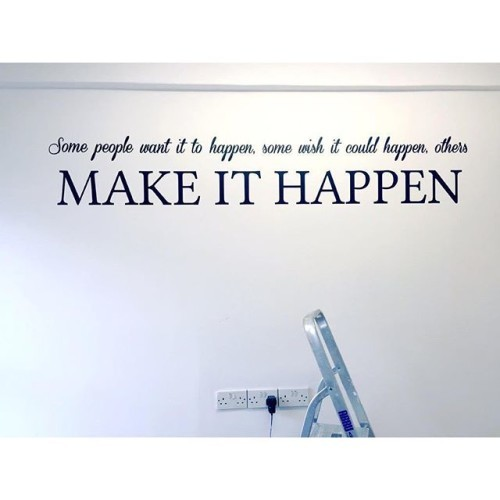 I think you can safely say I am ADDICTED to wall quotes...3 more have arrived this morning for my new studio space