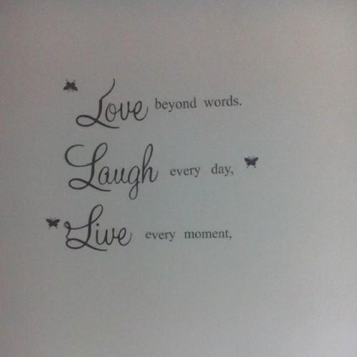 Love my new #wallquote #positivity #studio