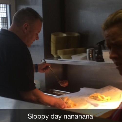Hard at work making #sloppyfoleys