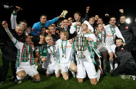 The Cork team celebrate victory 2/12/2007