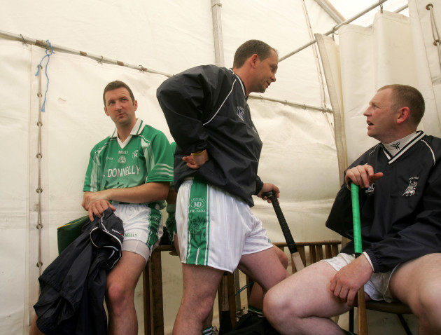 Damien Fitzhenry and Davy Fitzgerald share's a word before the start of the game 2/8/2008