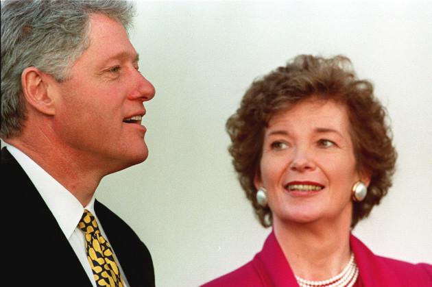 BILL CLINTON AND MARY ROBINSON