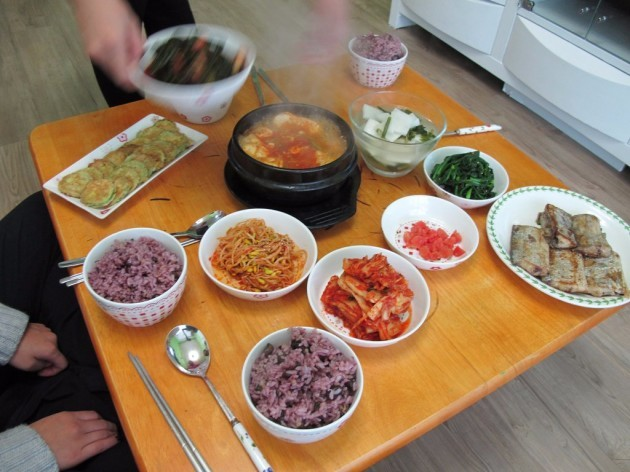 korea-a-korean-breakfast-looks-strikingly-similar-to-a-korean-dinner-theres-rice-soup-the-ever-present-kimchi-some-type-of-fish-or-beef-and-other-leftovers-from-the-previous-nights-dinner