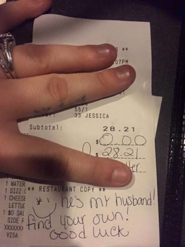 A waitress just burned this jealous woman who told her to