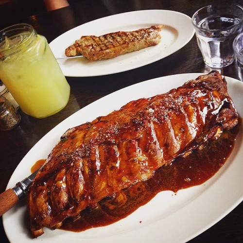 #steak #ribs #drooling #date night with my boy Dylan