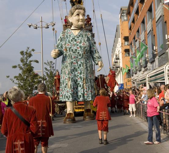 5/9/2014. Huge Grandmother Puppets