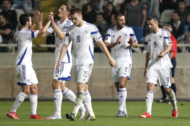 Cyprus Bosnia Euro Soccer