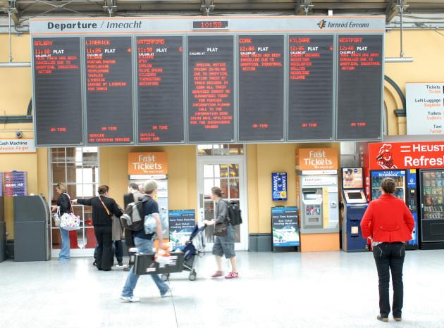 23/5/2008. Cork Dublin Train Disputes