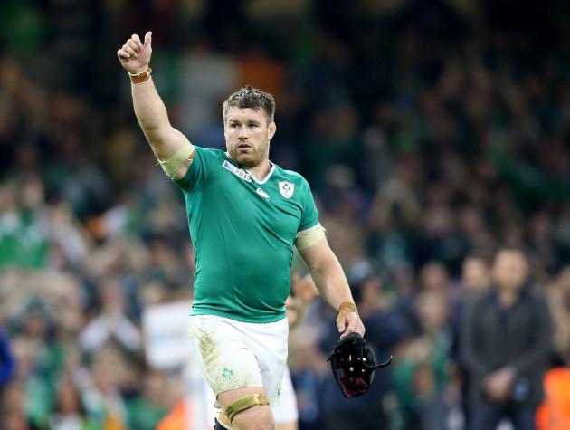 Sean O'Brien celebrates winning