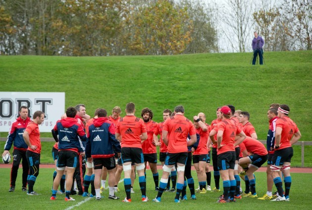 A view of the Munster squad