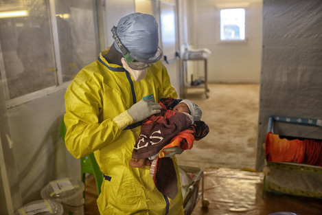 MSF Ebola Treatment Centre in Conakry, Guinea
