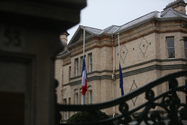 14/11/2015. French Embassy - Dublin. Pictured a th