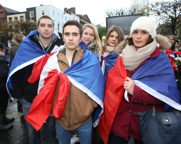 14/11/2015. French Solidarity March. Pictured (Lto
