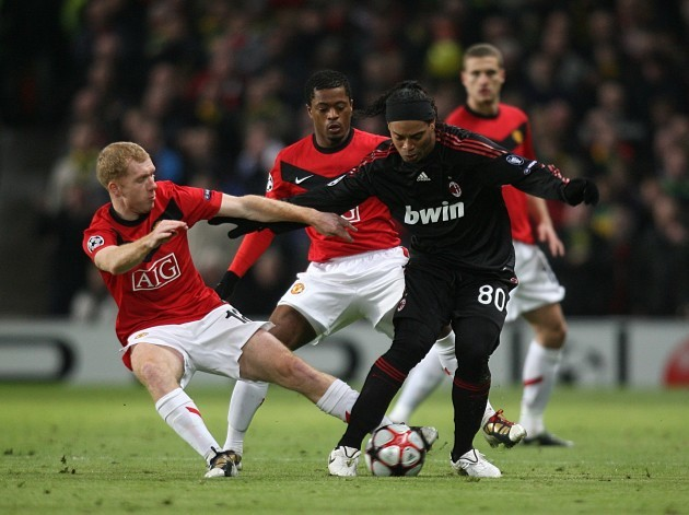 Soccer - UEFA Champions League - Round of 16 - Second Leg - Manchester United v AC Milan - Old Trafford