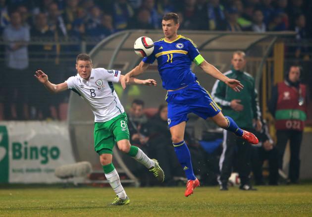 Bosnia and Herzegovina v Republic of Ireland - UEFA Euro 2016 Qualifying - Play-off - First Leg - Stadion Bilino Polje