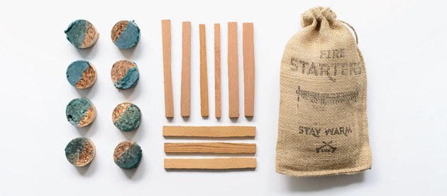 Salvaged-Cedar-Fire-Starter-Kit-long-burning