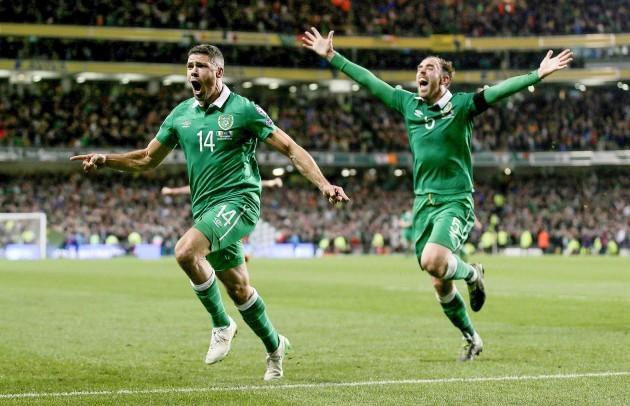 Jonathan Walters celebrates scoring