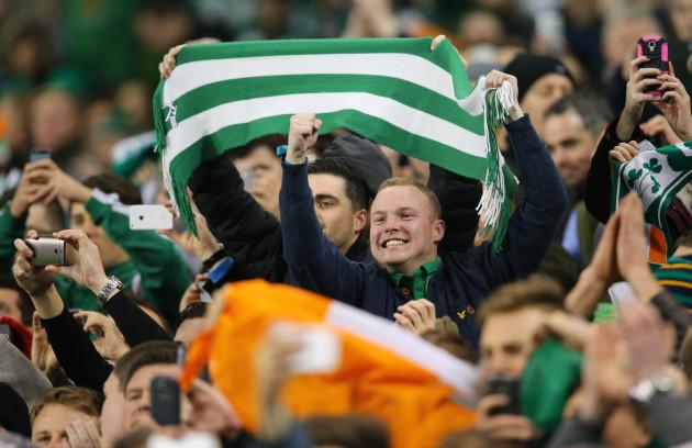 Republic of Ireland supporters celebrate